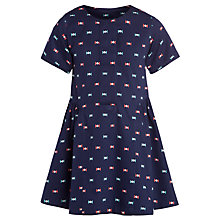Buy Kin by John Lewis Girls' Repeat Bow Print Dress, Navy Online at johnlewis.com