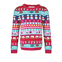Buy John Lewis Girl Christmas Fair Isle Jumper, Multi Online at johnlewis.com