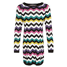 Buy John Lewis Girl Zig Zag Stripe Long Sleeve Dress, Multi Online at johnlewis.com