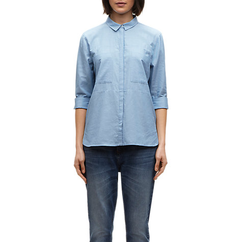 Buy Whistles Skye Cotton Shirt, Blue Online at johnlewis.com