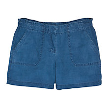 Buy Mango Linen Shorts, Medium Blue Online at johnlewis.com