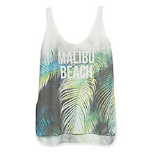 Buy Mango Malibu Beach Print T-Shirt, Grey Online at johnlewis.com