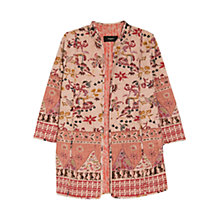 Buy Mango Oriental Inspired Jacket, Pink Online at johnlewis.com
