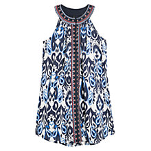 Buy Mango Embroidered Detail Paisley Dress, Navy Online at johnlewis.com
