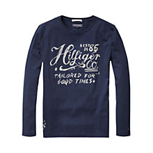Buy Tommy Hilfiger Boys' Federer Long Sleeve T-Shirt Online at johnlewis.com