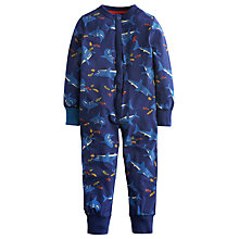 Buy Little Joule Boys' Connor Shark Print Onesie, Navy Online at johnlewis.com