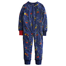 Buy Little Joule Boys' Connor Ski Print Onesie, Navy Online at johnlewis.com