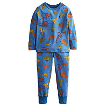 Buy Little Joule Boys' Raiden Dino Print Pyjamas, Blue Online at johnlewis.com