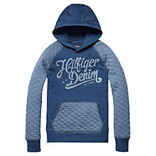 Buy Tommy Hilfiger Boys' Gino Quilted Hoodie, Blue Online at johnlewis.com