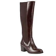 Buy John Lewis City Leather Block Heel Knee Boots Online at johnlewis.com