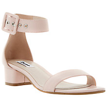 Buy Dune Frann Leather Block Heel Sandals, Blonde Online at johnlewis.com