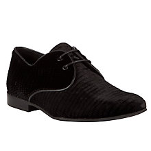 Buy Somerset by Alice Temperley Seymour Velvet Brogue Shoes, Black Online at johnlewis.com