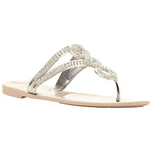 Buy Dune Jellyanne Embellished Sandal, Gold Online at johnlewis.com