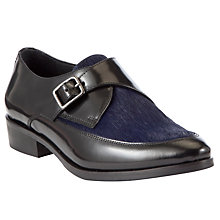 Buy Somerset by Alice Temperley Danver Buckle Point Shoes, Black / Blue Online at johnlewis.com