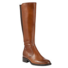 Buy John Lewis Baker Leather Punch Detail Trim Knee Boots Online at johnlewis.com