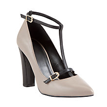 Buy COLLECTION by John Lewis Lucy Leather Mid Block Heel Court Shoes Online at johnlewis.com