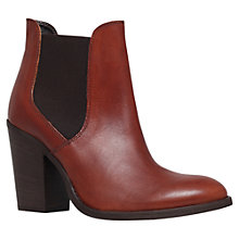 Buy Carvela Standing Leather High Heel Boots, Tan Online at johnlewis.com