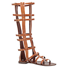 Buy Carvela Krown Knee-High Gladiator Sandals, Tan Online at johnlewis.com