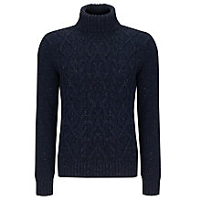 Buy John Lewis Frosty Cable Knit Roll Neck Jumper Online at johnlewis.com