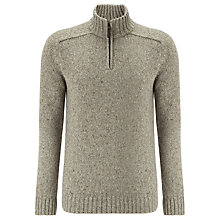Buy John Lewis Lambswool Blend Speckle Zip Neck Jumper Online at johnlewis.com