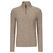 Buy John Lewis Frosty Plain Zip Neck Jumper Online at johnlewis.com