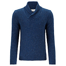 Buy John Lewis Frosty Shawl Neck Jumper, Blue Online at johnlewis.com