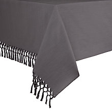 Buy John Lewis Croft Collection Tassel Tablecloth, Grey Online at johnlewis.com