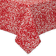 Buy John Lewis Polka Wipe Clean Tablecloth, Red Online at johnlewis.com