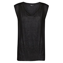Buy Mango Black Draped Top, Black Online at johnlewis.com