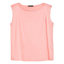 Buy Mango Raw Edge Jersey Top Online at johnlewis.com
