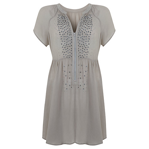Buy Mint Velvet Arizona Sequin Tunic, Green Online at johnlewis.com