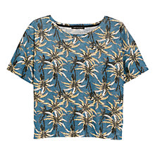 Buy Mango Palm Print Linen Top Online at johnlewis.com