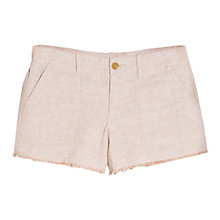 Buy Mango Stripe Linen Blend Shorts, Light Beige Online at johnlewis.com