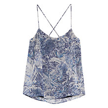 Buy Mango V-Back Top, Dark Blue Online at johnlewis.com
