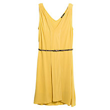 Buy Mango Belted Dress, Bright Yellow Online at johnlewis.com