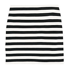 Buy Mango Striped Jersey Skirt, Navy Online at johnlewis.com