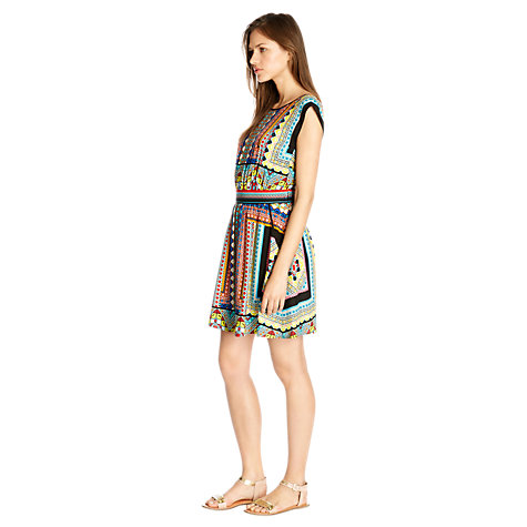Buy Warehouse Placement Tribal Print Skater Dress, Multi Online at johnlewis.com