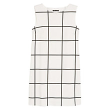 Buy Mango Check Ponte Dress, Natural White Online at johnlewis.com