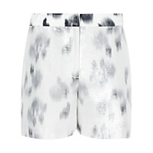 Buy Reiss Navarre Lurex Print Shorts, Black/Cream Online at johnlewis.com