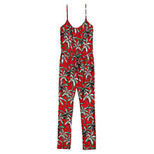 Buy Mango Palm Print Jumpsuit, Bright Red Online at johnlewis.com