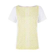 Buy Hobbs NW3 Sara Top, Yellow/White Online at johnlewis.com
