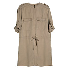 Buy Mango Tencel Shirt Dress, Light Pastel Brown Online at johnlewis.com