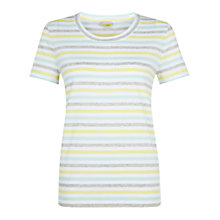 Buy Hobbs NW3 Karen T-Shirt, Yellow/Multi Online at johnlewis.com