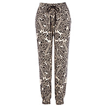 Buy Warehouse Leaf Print Trousers, Multi Online at johnlewis.com