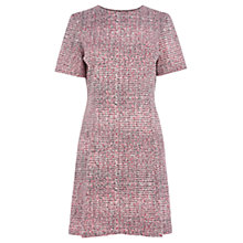 Buy Warehouse Scratchy Dress, Light Pink Online at johnlewis.com