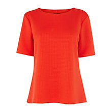 Buy Warehouse Circle Quilt Tee, Orange Online at johnlewis.com
