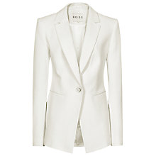 Buy Reiss Cuba Waffle Texture Jacket, Off-white Online at johnlewis.com