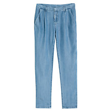 Buy Mango Tencel Flowy Trousers, Light Pastel Blue Online at johnlewis.com