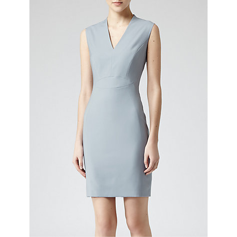 Buy Reiss Marguerite Tailored Dress, Light Blue Online at johnlewis.com