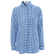 Buy True Decadence Gingham Oversized Shirt, Blue Online at johnlewis.com